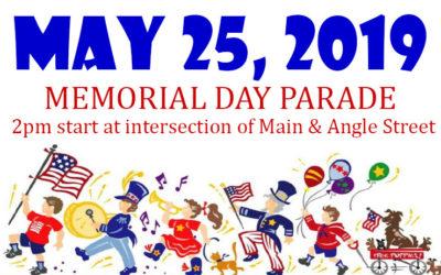 MAY 25, 2019 – MEMORIAL DAY PARADE