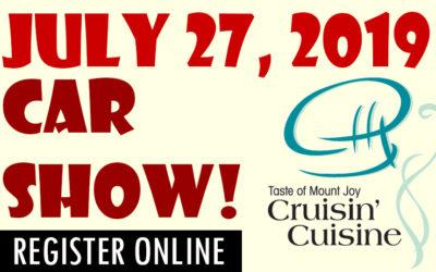 July 27, 2019 – CRUISIN' CUISINE CAR SHOW