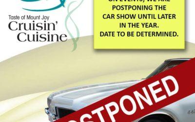 CAR SHOW HAS BEEN POSTPONED