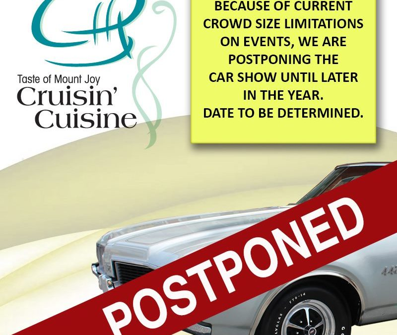 CAR SHOW HAS BEEN CANCELLED